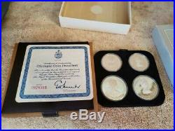 1976 Canada $5 & $10 Olympic 4 Coin Commemorative Proof Set 925 Sterling Silver