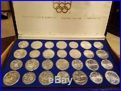 1976 Canada Olympic Silver Coin Proof Set COMPLETE with case COA 28 coins