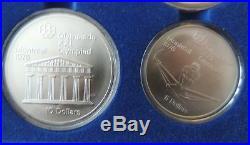 1976 Canadian Montreal Olympics 28-Coin Set BU Silver NEW Sealed Original Box