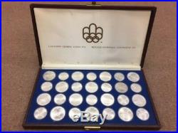 1976 Canadian Olympic Silver Coin Set With Case