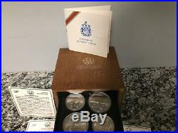 1976 Montreal Olympic Silver Proof Coin Set Canadian, Complete Set of 28 Coins