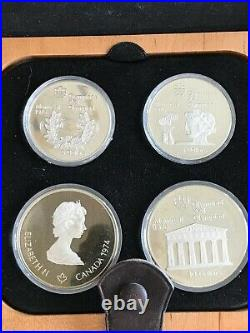 1976 Olympic Silver Proof 28 Coin Set Montreal Canada 7 Series $5 & $10 Coins