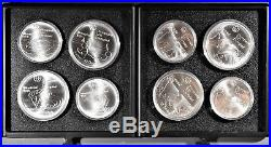 1976 Proof Silver Canadian Montreal Olympic Games 28 Coin Set In Wood Box, Zt20