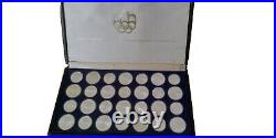 1976 Silver Canadian Monnaie Olympic Set 28 Coins in original box