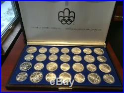 1976 Silver Canadian Montreal Olympic Games Coin Set 28 Coins in original box