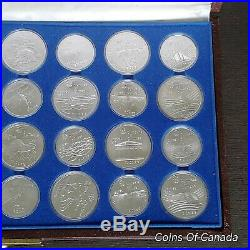 1976 Silver Canadian Montreal Olympic Games Set 28 BU Coins 30 oz #coinsofcanada