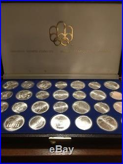 1976 Silver Canadian Montreal Olympic Games Set 28 Coin in original box