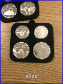 1976 canada montreal olympic silver coin set