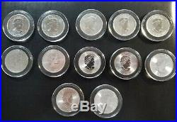 1988-2019 Canada Maple Leaf Collection 32 BU Silver 1 Oz Coin Set Canadian