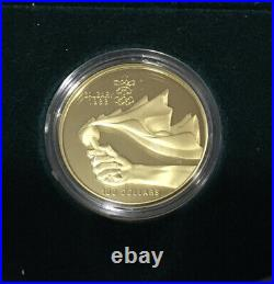 1988 Canada Calgary Olympic PROOF Set 10 Silver $20 Coins & 1/4 oz 1987 GOLD