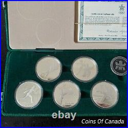 1988 Canada Calgary Olympic Sterling Silver $20 10 Coin Set #coinsofcanada