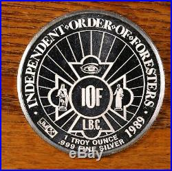 1989 JOHNSON MATTHEY 35TH SUPREME COURT SESSION 1oz. 999 Silver Rare Proof Coin