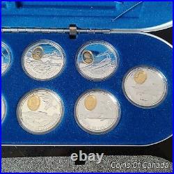 1995-1999 Canada Aviation Set Series 2 10 Sterling Silver Coins #coinsofcanada
