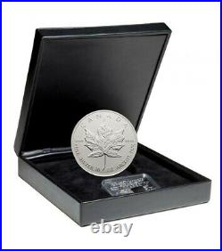 1998 Canada 10 oz Silver $50 Maple Leaf (10th Anniversary) Set with Sterling Wafer