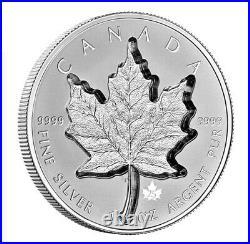 1 oz. Pure Silver Coin Super Incuse Silver Maple Leaf (2021)