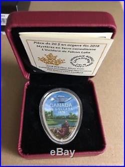 1 oz. Pure Silver Glow-in-the-Dark Coin CanadaThe Falcon Lake UFO Incident