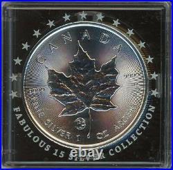 1 oz Silver Maple Leaf 2019 Fabulous 15 Privy Mark F15 CANADA 5$ HARD TO GET