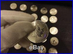 1oz Canadian Silver Maple Leaf Bullion Coins 2018 x 25 full tube