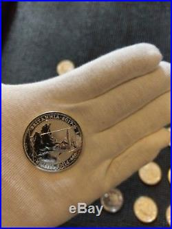 1oz Silver Britannia coins 25 2017 Full tube