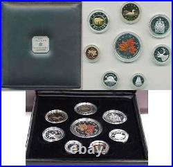 2001 Premium Eight Coin Proof Set with. 9999 Fine Silver Colourized SML (10516)
