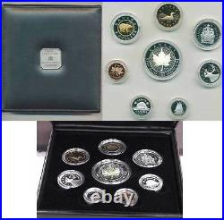 2001 Premium Eight Coin Proof Set with. 9999 Fine Silver Hologram SML (10514)