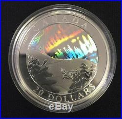 2004 Canada $20 Fine Silver Coin The Northern Lights Aurora Borealis