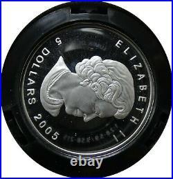 2005 Canada Fractional Set. 9999 Fine Silver Coin Set Lynx With Box & COA bke