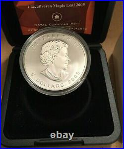 2005 Tulip Privy Maple Leaf Coin 1oz. 9999 silver Canada