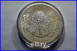 2006 CANADA 5 oz FINE SILVER $50 PROOF COIN THE FOUR SEASONS BOX & COA EC020