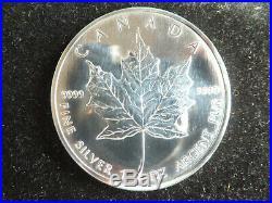 2006 Roll of 20 Canadian Silver Maple Leafs 1 oz. 99.99% Fine Silver BU Coins
