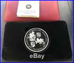 2007 Canada 5oz. 9999 Fine Silver Coin $50 Queens Wedding Anniversary Damaged