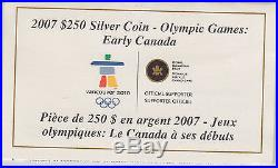 2007 Olympic Games Early Canada Kilo Pure Silver Coin