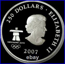 2007 SILVER CANADA KILO PROOF 32.15 oz VANCOUVER OLYMPICS $250 COIN
