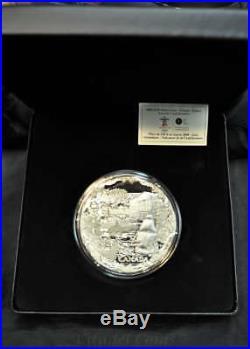 2008 Canada $250 One Kilogram Fine Silver Coin Towards Confederation Low CoA#