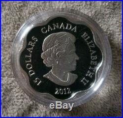 2010, 2011, 2012 Canada 3-Coins $15 Lunar Scalloped Lotus Silver in Display Case