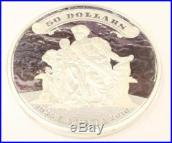 2010 Canada $50 5oz Silver Proof Coin 75th Ann. First Bank Note Issued 9999 Pure
