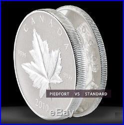 2010 Canada $5 Silver Piedfort Maple Leaf Coin 1oz. 9999 fine silver proof