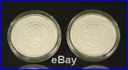 2011-2012 Canada $5 RCM Full Moon Sterling Silver & Niobium 4-Coin Set