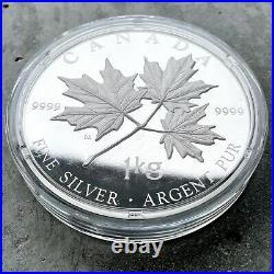 2011 Canada Kilo. 9999 Fine Silver Coin $250 Maple Leave No COA