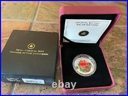 2011 Canadian Mint $20 Fine Silver Coin Tulip with Ladybug