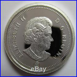 2012 Canada 1 Cent Proof 99.99% Silver And Gold Plated Penny Coin