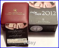 2012 Canada Welcome To The World Baby Feet Silver Mint Coin In RCM Packing