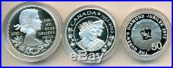 2012 Queen's Diamond Jubilee 3 Coin Silver Set. (OOAK)