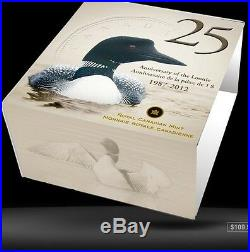 2012'Two Loons' Colorized $1 Pure Silver Proof Coin 1oz