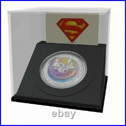 2013 1 oz $20 Fine Silver Hologram Coin Superman Metropolis Mintage 10,000