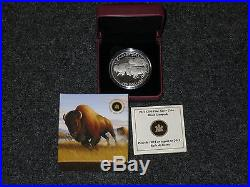 2013 Canada $100 for $100 Bison Stampede 1oz Silver coin Wildlife in Motion