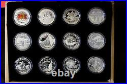 2013 Canada $10 Full O Canada Silver 12-Coin Set with Display Case