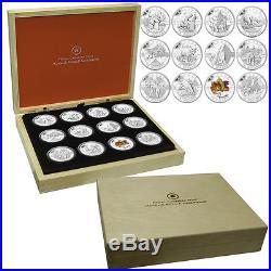 2013 Canada 12-Coin 1/2 oz Silver O'Canada Set