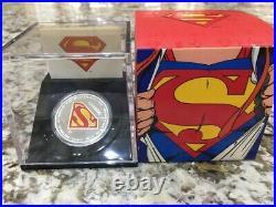 2013 Canada $20 1oz Fine Silver Coin Superman Shield 75th Anniversary