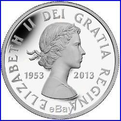 2013 Canada 5 Ounce Fine Silver Coin 60th Anniversary Queen's Coronation Rare